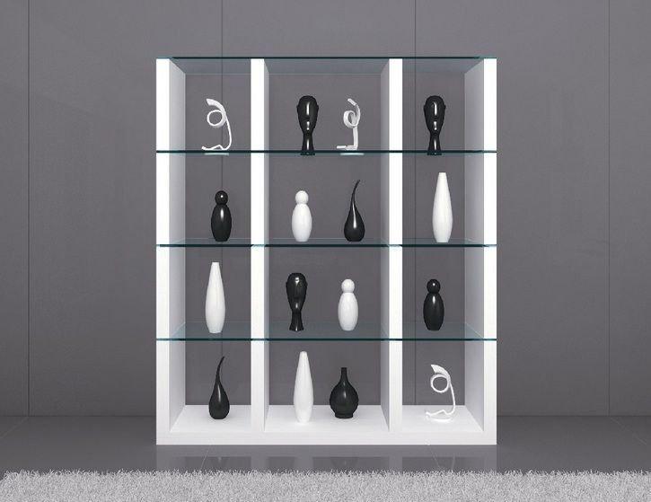 cloud unique wall unit in white with clear glass shelves. Black Bedroom Furniture Sets. Home Design Ideas