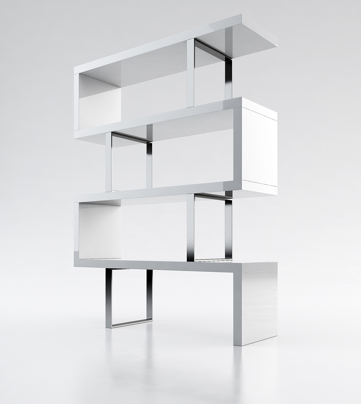 Contemporary Bookcase With Three Color Options Los Angeles - Modern ...